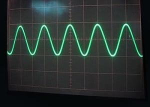 Der Verlaufsgraph stellt die Spannnungen anhand von Amplituden in einem Koordinatensystem dar